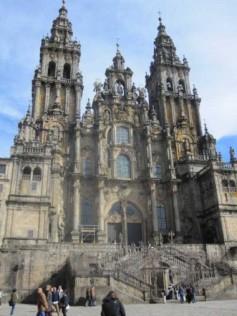 The Cathedral of Santiago de Compostela in Galicia, Spain