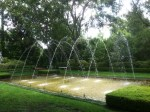 There are numerous water features in the 14-acre garden.