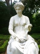Bayou Bend gardens are full of classical statues.