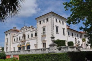 Beautiful Vizcaya beckons the Florida tourist.