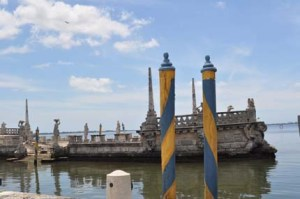 Venetian gondolas were a common site at Vizcaya in Deering's Day.